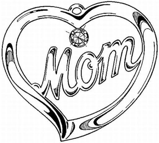 Mothers day coloring pages 33 Pictures cards and cakes