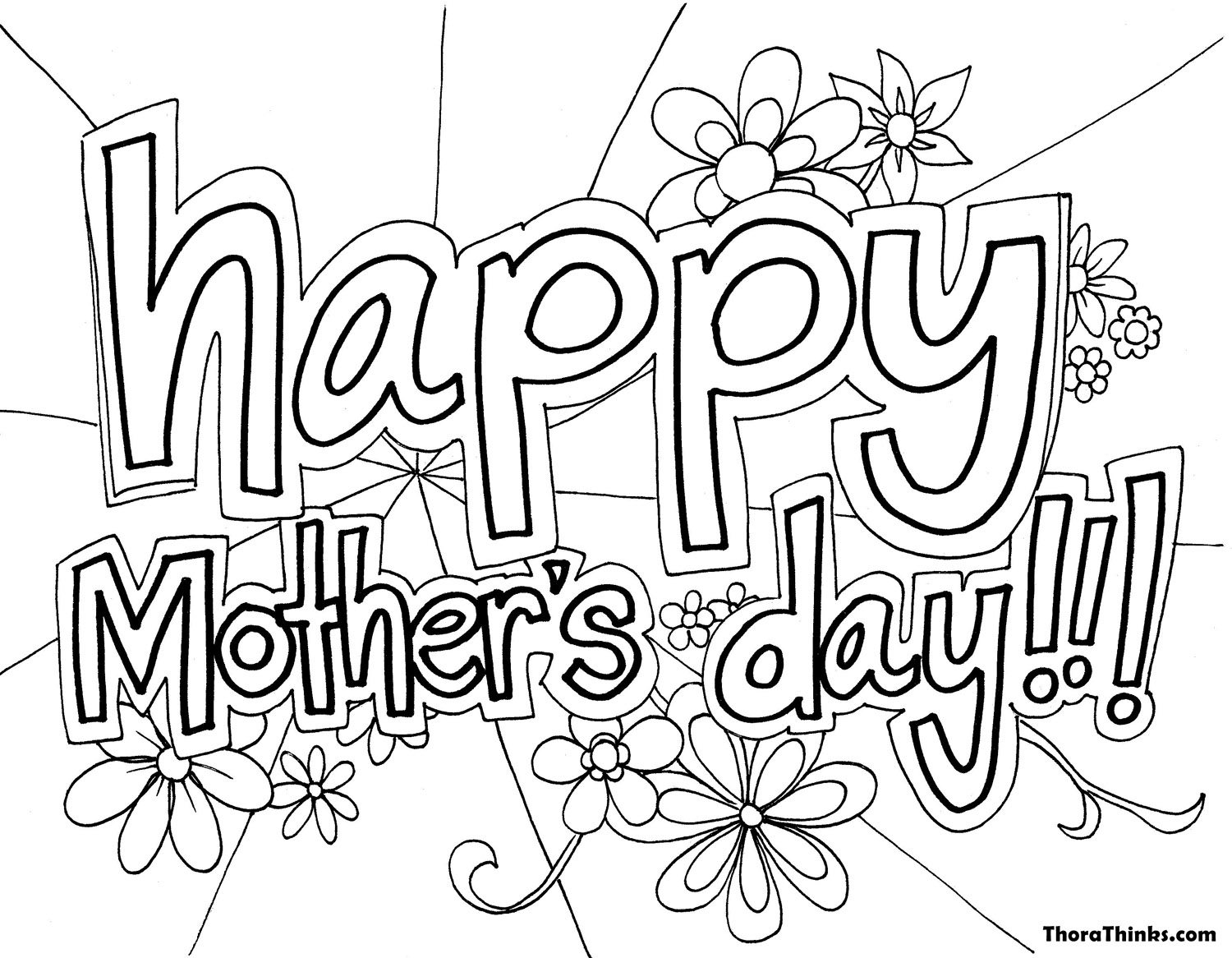 Mothers day coloring pages 33 pictures cards and cakes for Coloring pages mother