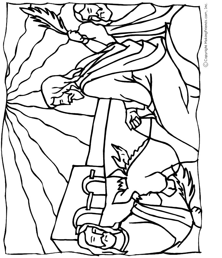 Palm Sunday Coloring Pages For Preschoolers | Coloring Pages