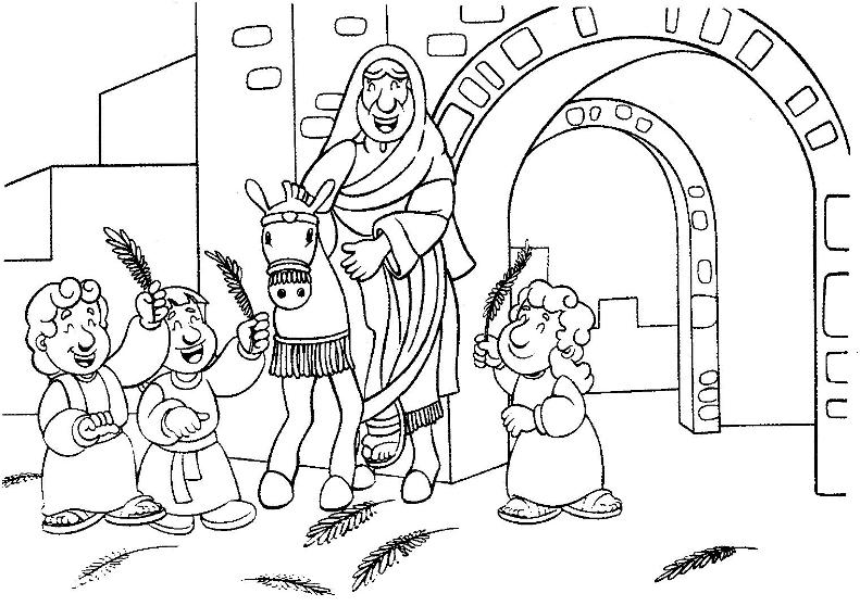 Palm Sunday Coloring Pages Print Color Craft