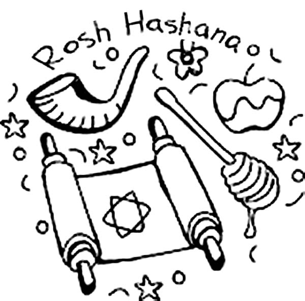 rosh-hashanah coloring pages,printable,coloring pages