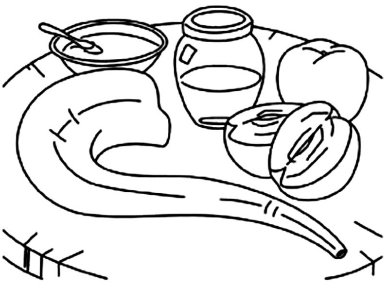 rosh hashanah coloring pages - photo#11