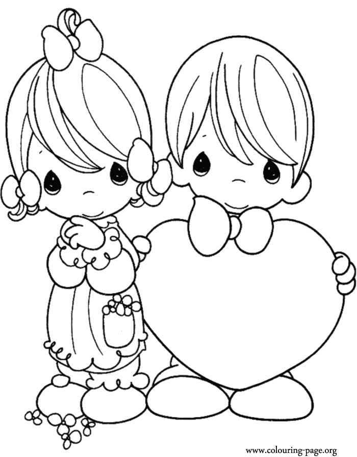 14 coloring pages of st valentines day print color craft for Coloring page valentine