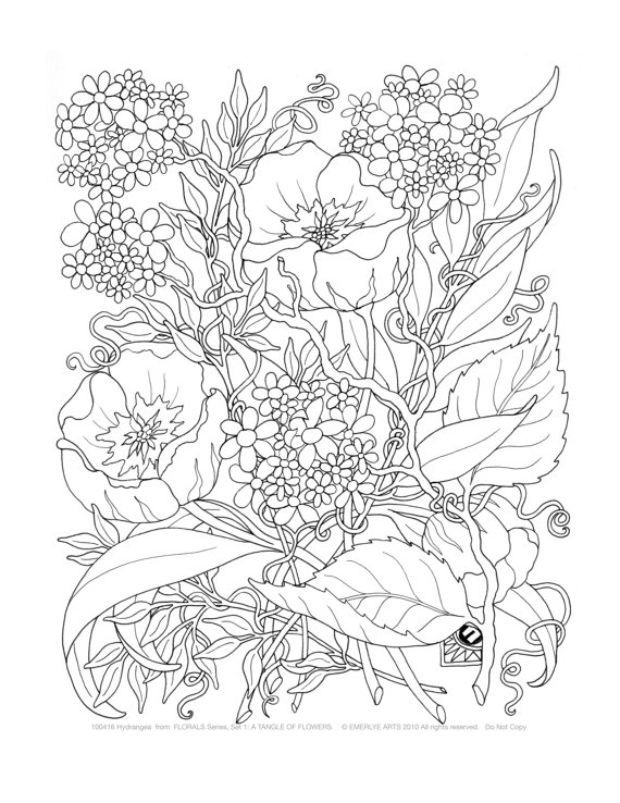 adult-flowers coloring page,printable,coloring pages