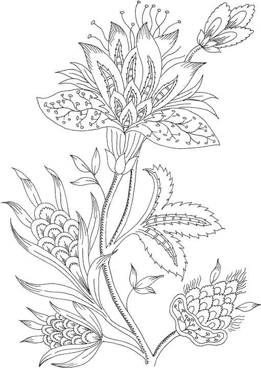 adult flowers coloring page to printprintablecoloring pages