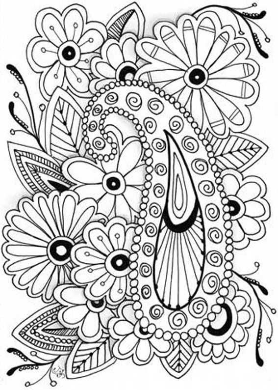 Free Adult Flowers Coloring Pages Coloring Pages For Adults Printable