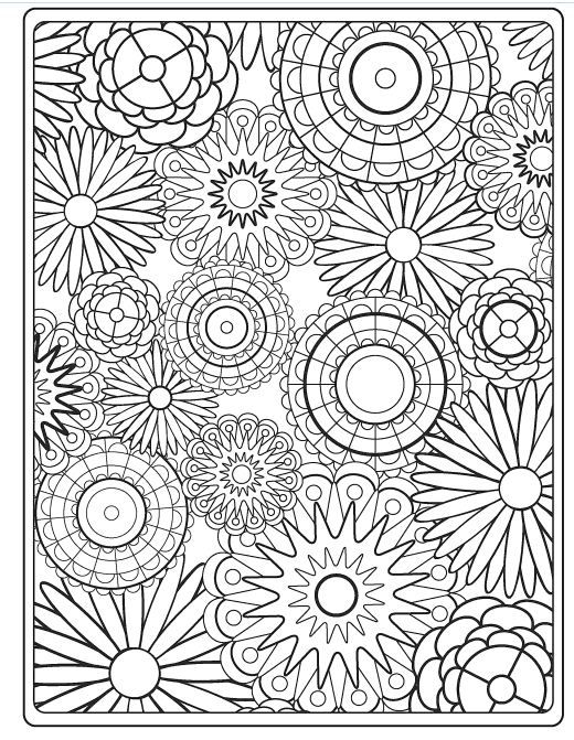 14 Kids Coloring Pages Adult Flowers
