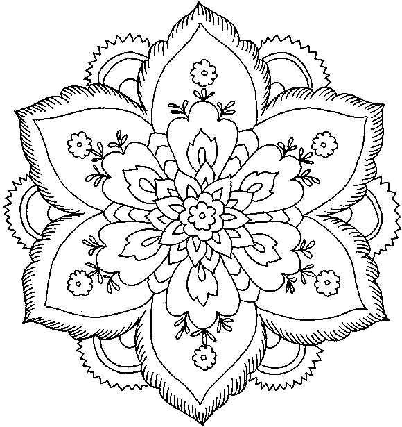 coloring pictures adult-flowers,printable,coloring pages