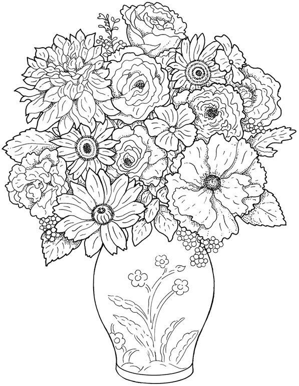 printable adult-flowers coloring pages,printable,coloring pages