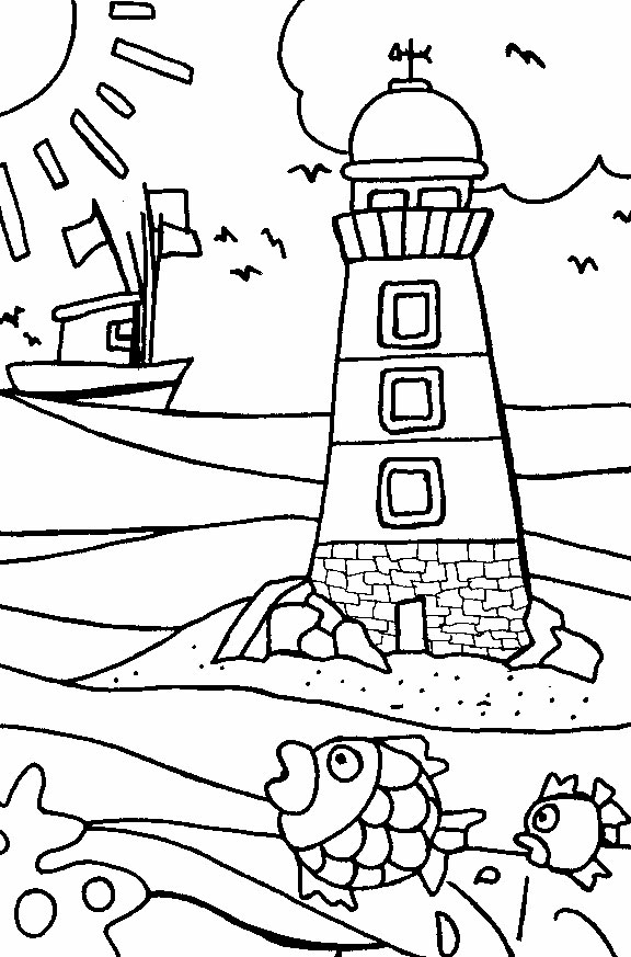 Beach Coloring Pages 14printablecoloring