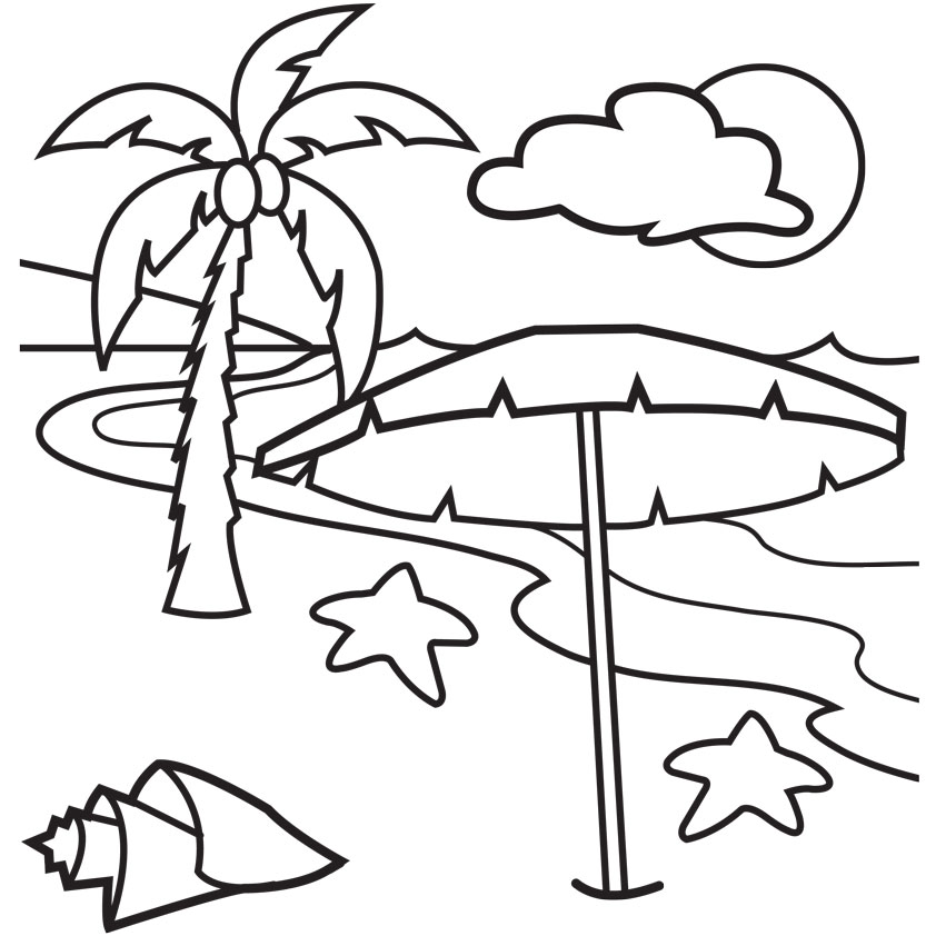 coloring pages of beach,printable,coloring pages