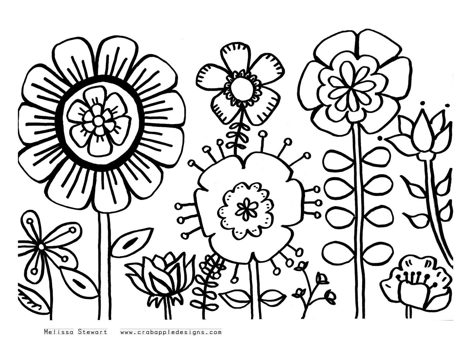 Flower Coloring Craft : 42 printable flower coloring pages Print Color Craft