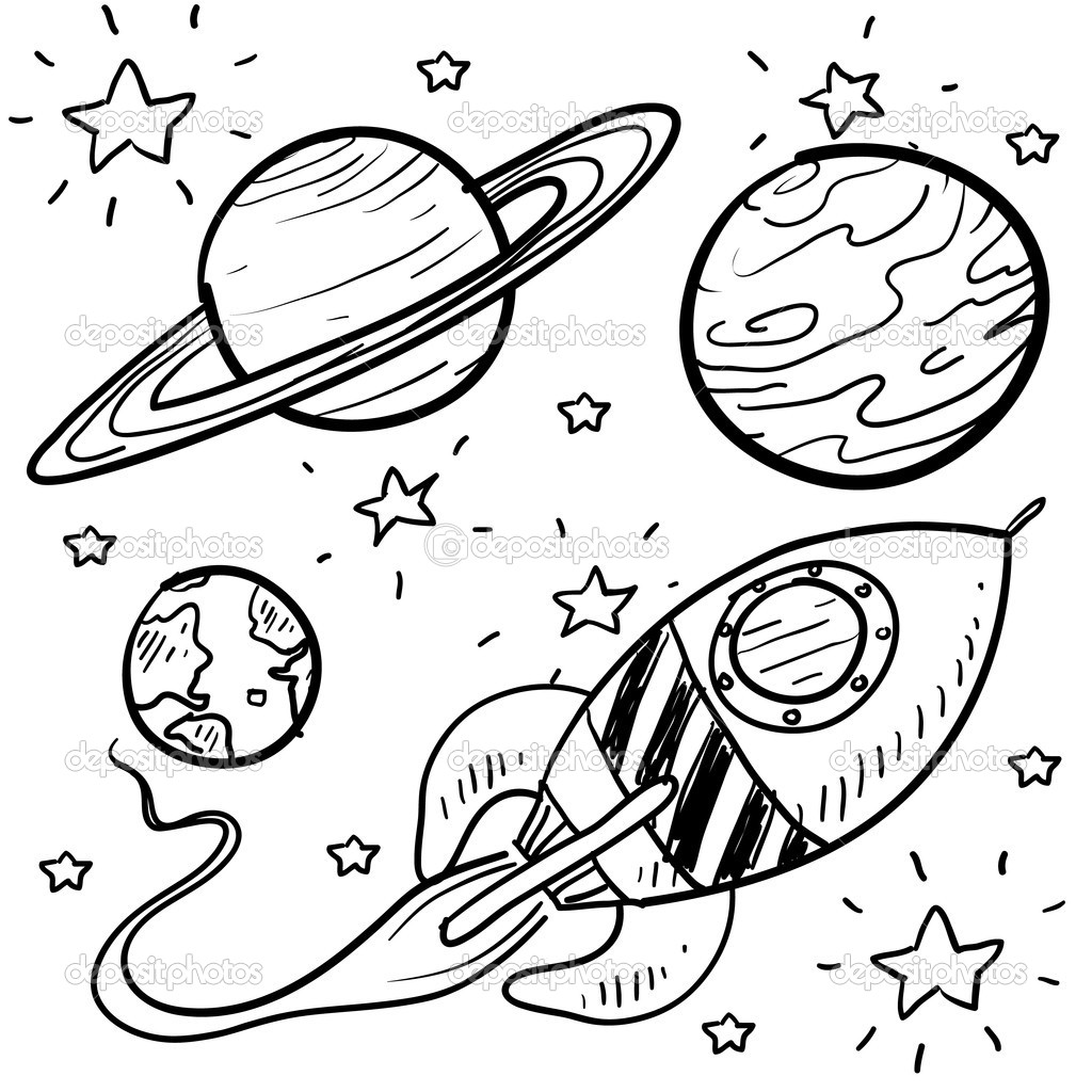 11 planet coloring page - Print Color Craft