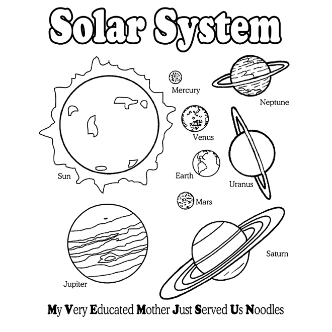 solar system color pages - 15 solar system coloring pages for kids print color craft