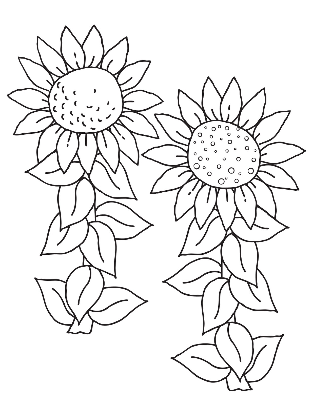 kids coloring pages sunflower,printable,coloring pages