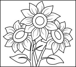 sunflower coloring page to print,printable,coloring pages