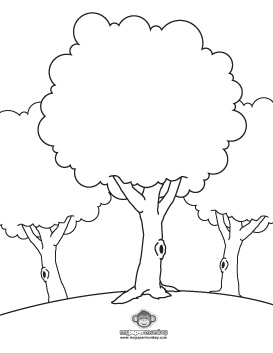 kids coloring pages treeprintablecoloring pages - Printable Coloring Pages Trees