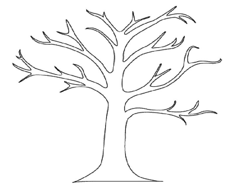 Bare Tree Coloring Page Jungle Coloring Coloring Pages