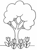 tree coloring pages for kids,printable,coloring pages