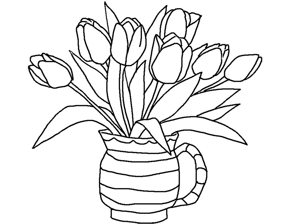 tulip coloring pages 12,printable,coloring pages