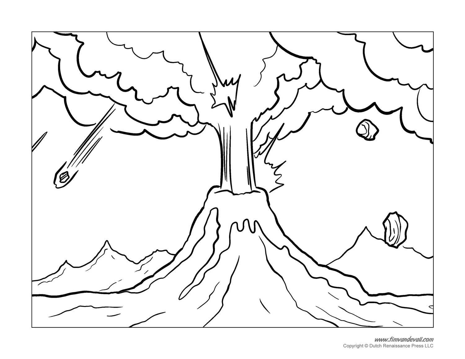 coloring pages of volcano,printable,coloring pages