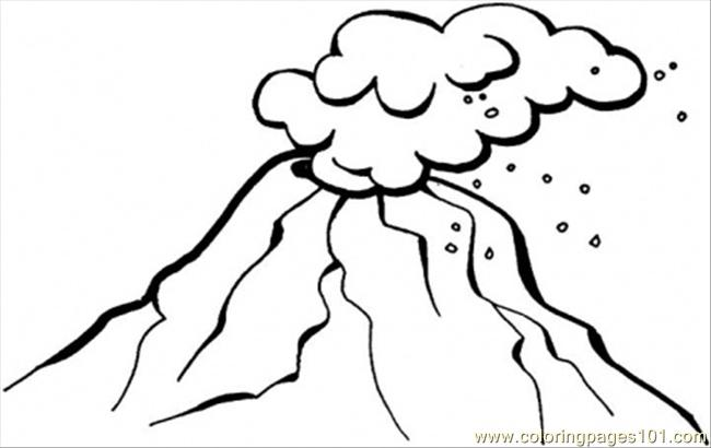 kids coloring pages volcano,printable,coloring pages