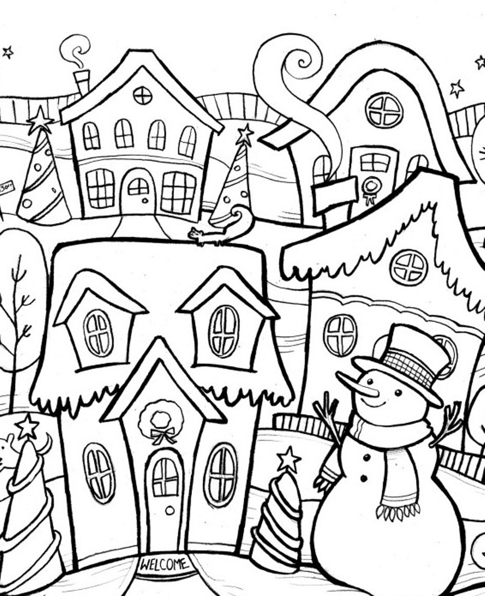 23 winter season coloring pages print color craft