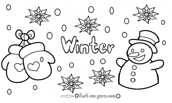 winter coloring pages,winter season