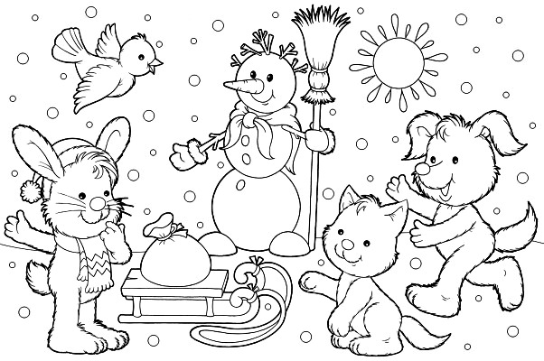 Free Coloring Pages Of Adult Winter