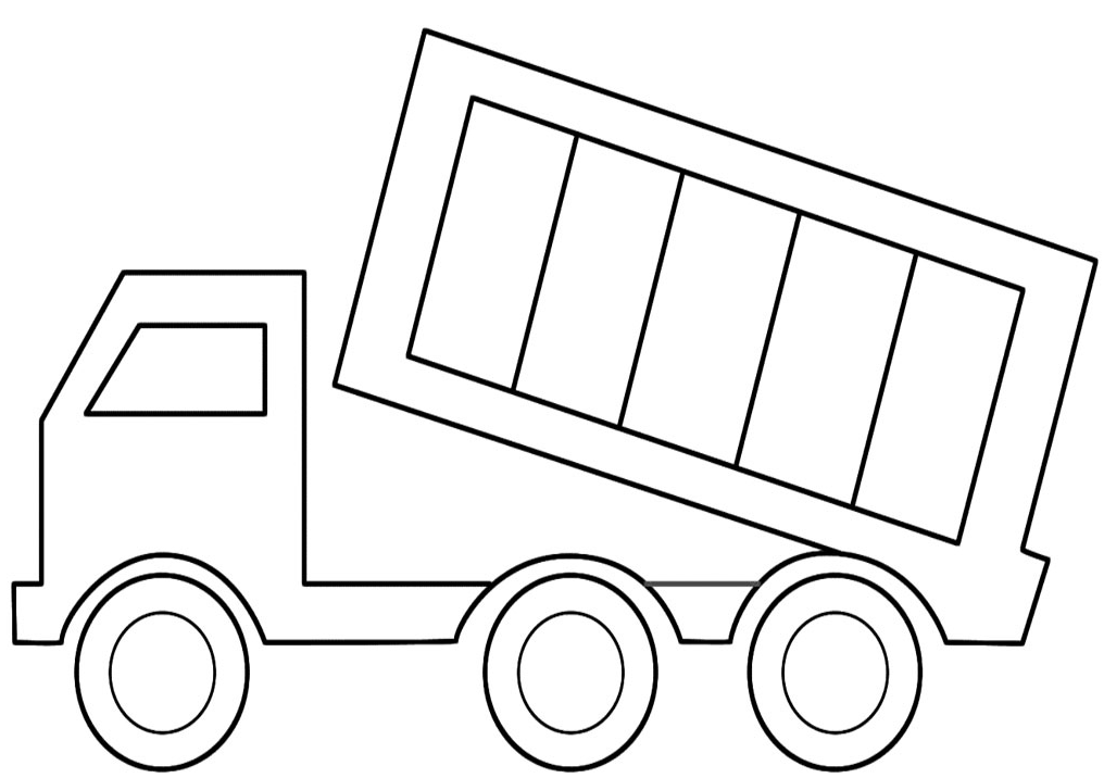 13 dump truck coloring pages for kids
