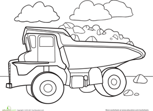 Dump Truck Coloring Pages 11printablecoloring