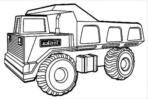 dump truck coloring pages online - photo#30