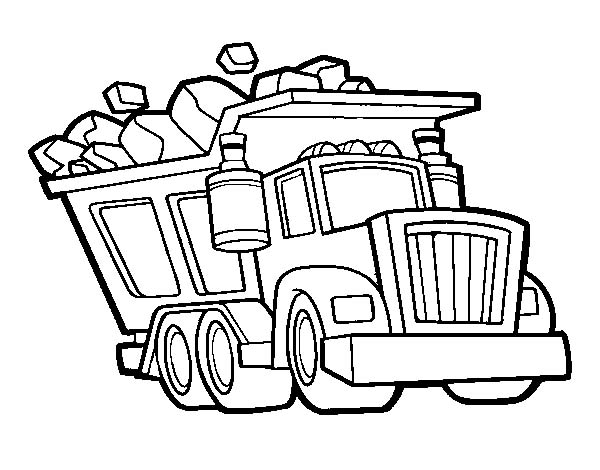 dump truck coloring pages online - photo#16