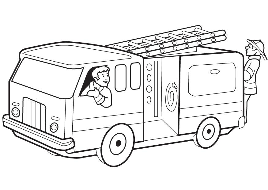 coloring pages of fire-truck,printable,coloring pages