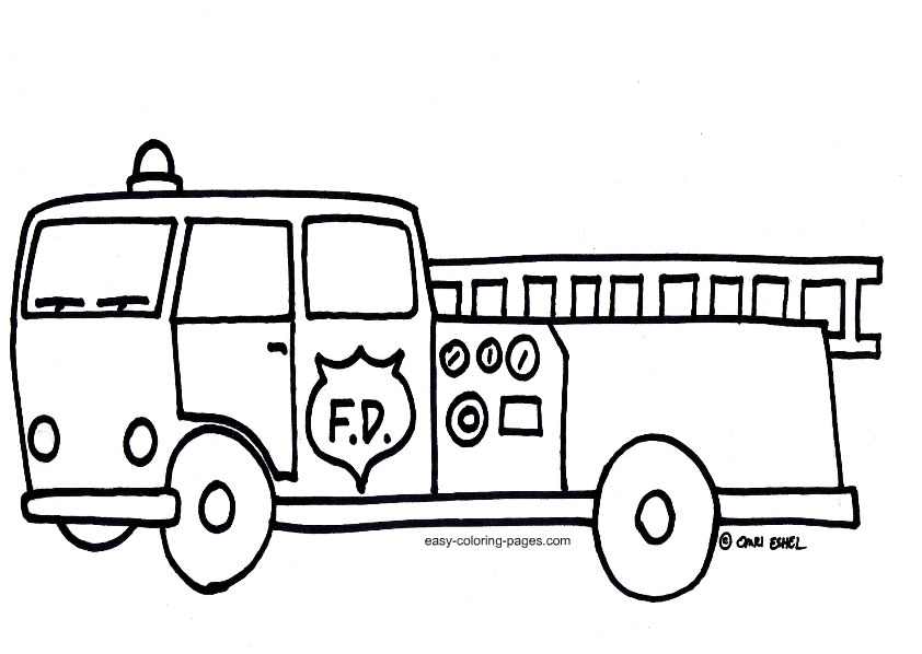 fire-truck coloring page,printable,coloring pages