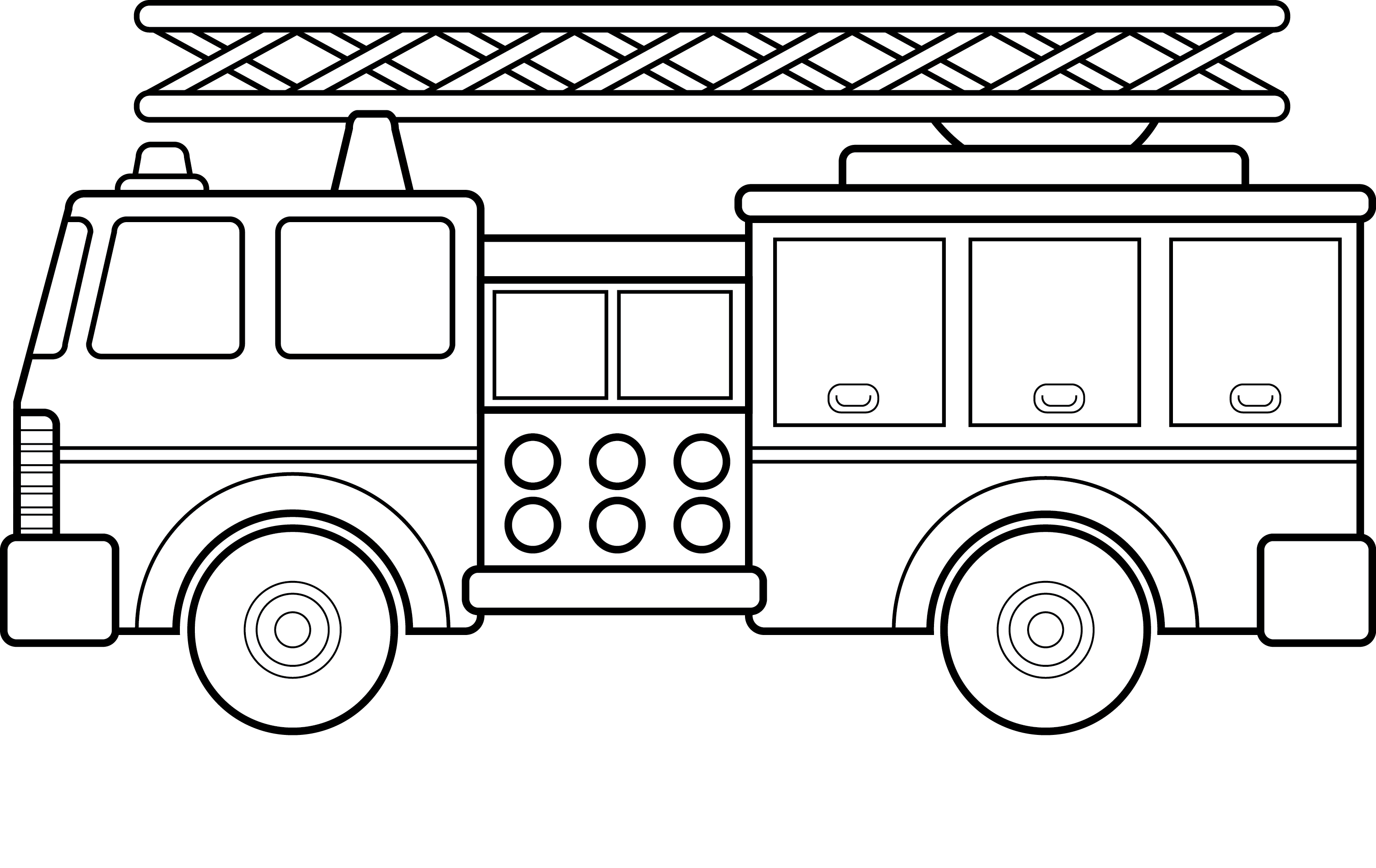 14 Firetruck Coloring Pages - Fire Engine Printable PDF