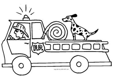 16 fire truck coloring pages