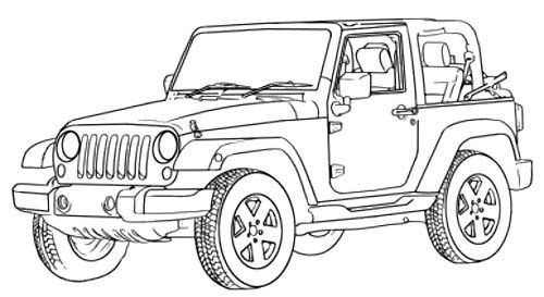 Jeep Rubicon Coloring Pages Coloring Pages