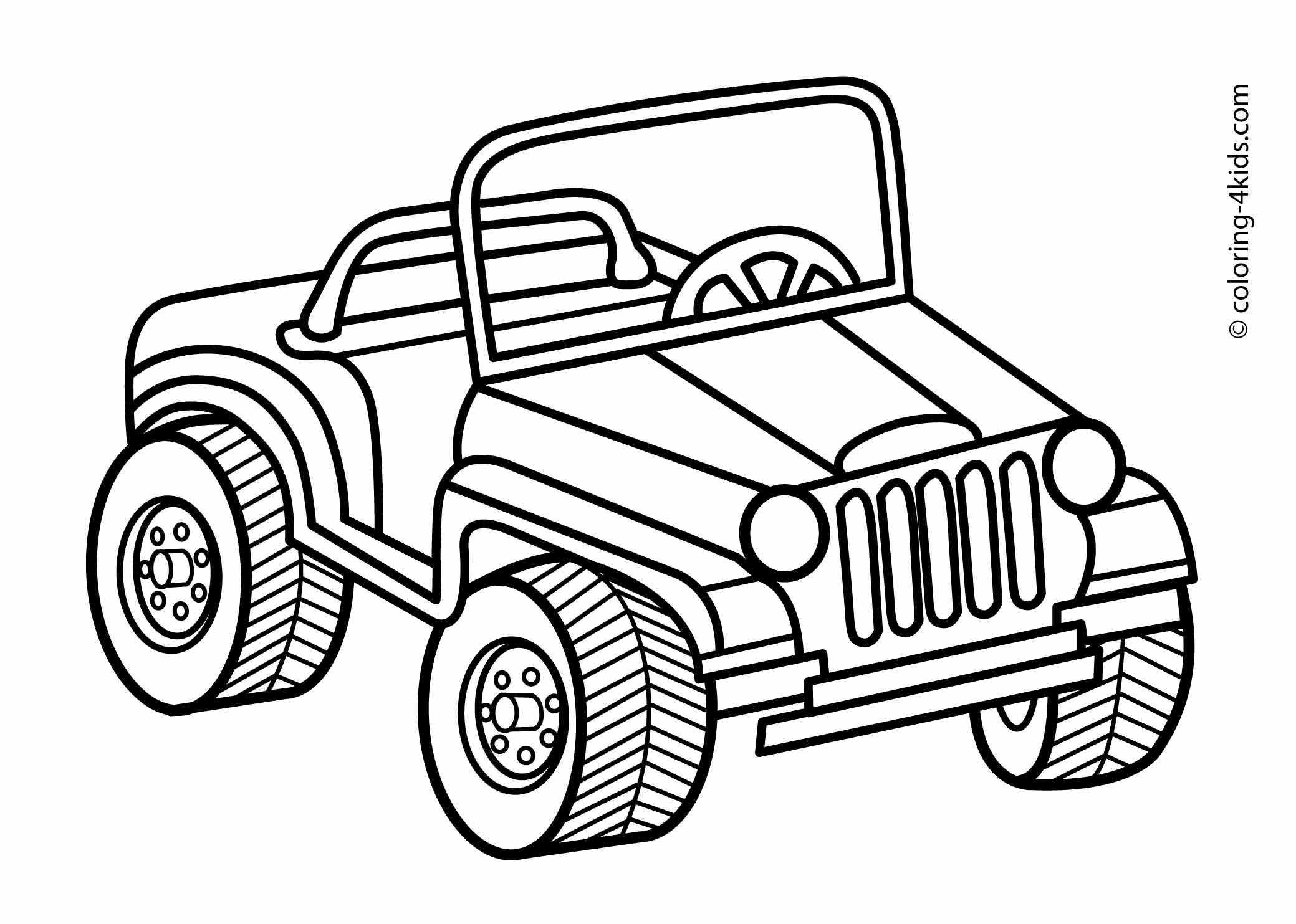Muscle car drawing outline 2
