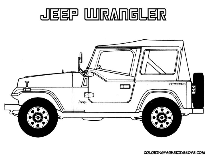 14 jeep coloring page to print