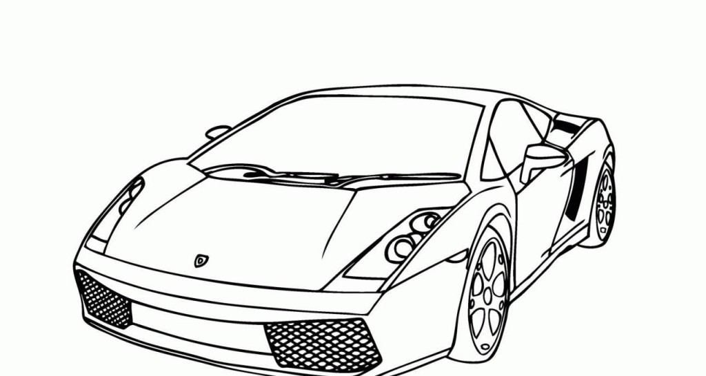 13 lamborghini coloring pages