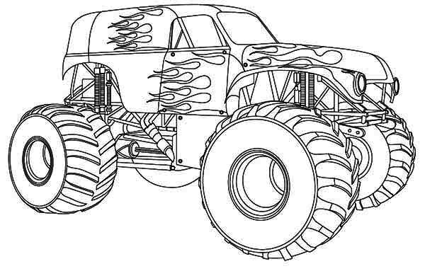 monster-truck coloring page,printable,coloring pages