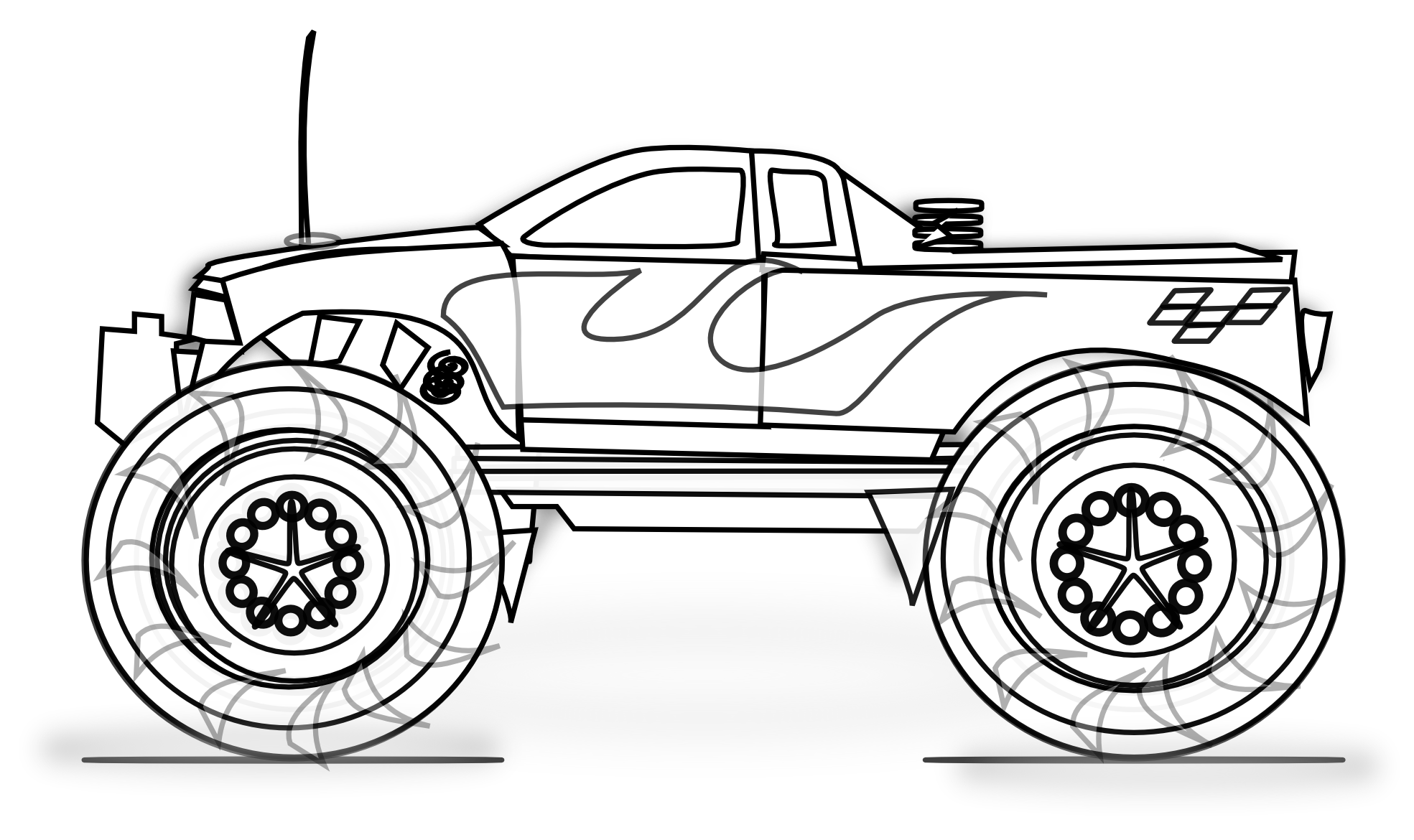 printable monster-truck coloring pages,printable,coloring pages