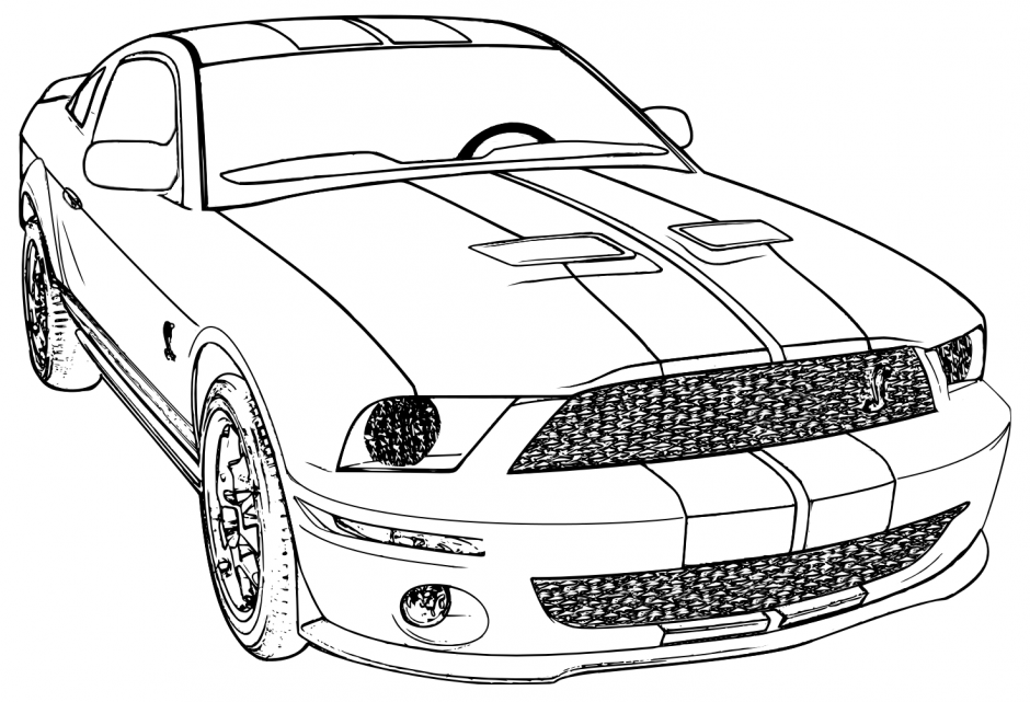 15 mustang coloring pages - Print Color Craft