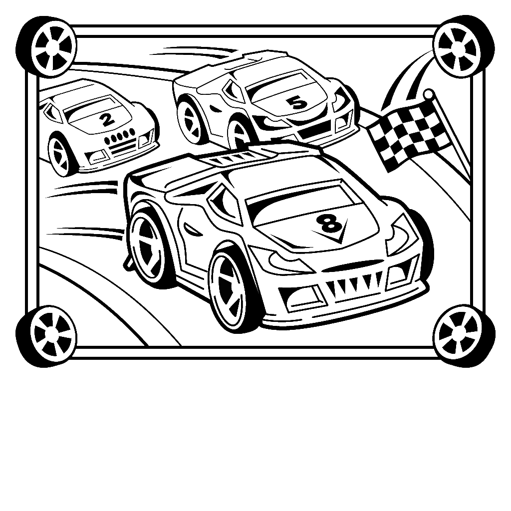 picture relating to Printable Racing Cars identified as 45 Race vehicle coloring webpages and crafts cakes for young children - Print