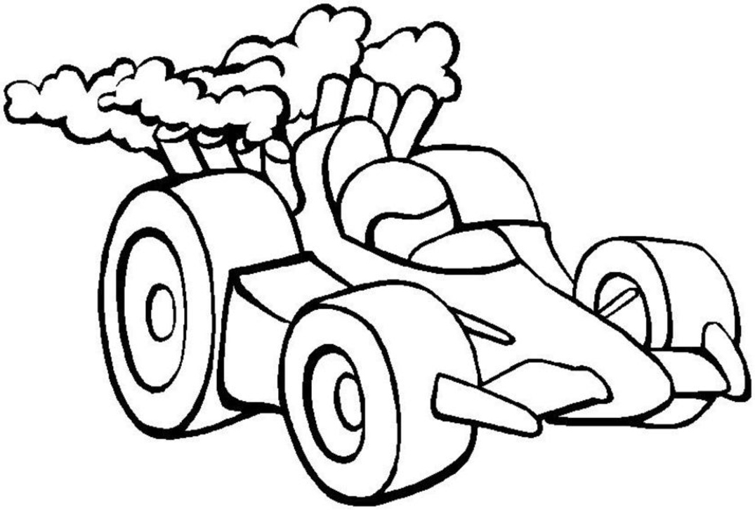 45 Race car coloring pages and crafts cakes for kids | Print Color ...