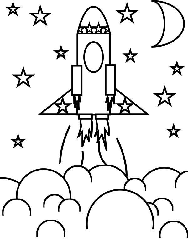 14 Rocket Ship Coloring Page To Print Color Craft