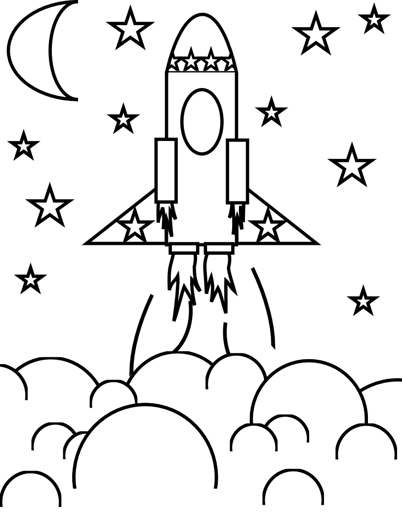 14 rocket ship coloring page to print print color craft