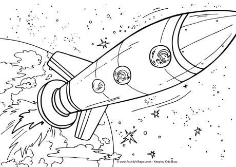 Space Quilts Shuttle Ship Coloring Pages