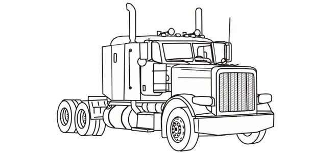 Semi Trailer Coloring Pages